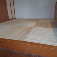 リフォームで、小上がり畳コーナー新規で作りました。アースカラーを使い明るくなりました。