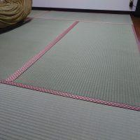 リビング床に、置き畳入れました。ケナフ床使いクッション抜群になりました。