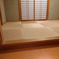 5年前施工しました。畳入れ替えし、縁ナシ畳しました。い草は、大分県の琉球表使用です。